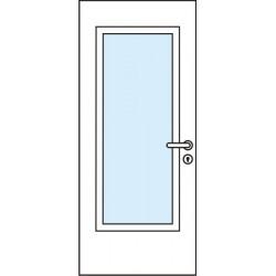 Остъклена врата - Модел 5